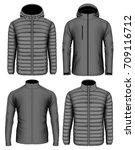 collection of men's zip up... | Shutterstock .eps vector #709116712