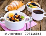 thanksgiving day breakfast.... | Shutterstock . vector #709116865