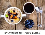 thanksgiving day breakfast.... | Shutterstock . vector #709116868