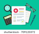 medical research report vector... | Shutterstock .eps vector #709120372