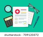 medical research report vector... | Shutterstock .eps vector #709120372
