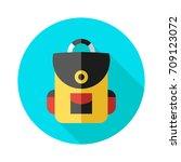 school bag icon in flat style... | Shutterstock .eps vector #709123072