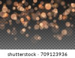 bokeh lights effect isolated on ... | Shutterstock .eps vector #709123936