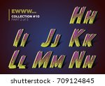 infected typeset for halloween... | Shutterstock .eps vector #709124845