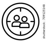 user target vector icon | Shutterstock .eps vector #709125148