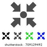 meeting point vector icon.... | Shutterstock .eps vector #709129492