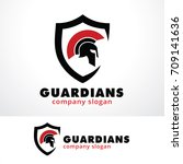 guardians logo template design... | Shutterstock .eps vector #709141636