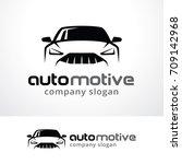 automotive logo template design ... | Shutterstock .eps vector #709142968