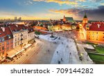 warsaw old town square  royal... | Shutterstock . vector #709144282