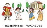 ancient roman characters | Shutterstock .eps vector #709148068