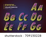 creepy ragged typeset for... | Shutterstock .eps vector #709150228