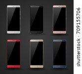 vector realistic smartphone set ...