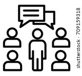 discussion vector icon | Shutterstock .eps vector #709159318