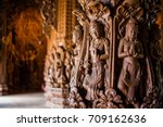 Wooden Sculptures Of Goddesses...