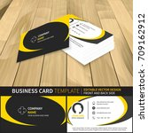 business card template.... | Shutterstock .eps vector #709162912