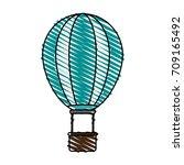 isolated hot air balloon design | Shutterstock .eps vector #709165492