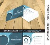 business card template.... | Shutterstock .eps vector #709165522