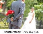 wedding day | Shutterstock . vector #709169716