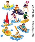 cartoon water sport icon | Shutterstock .eps vector #70916992