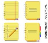 notebooks icons. vector... | Shutterstock .eps vector #709174396
