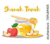 vector cartoon style shanah... | Shutterstock .eps vector #709189405