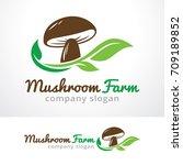 mushroom farm logo template... | Shutterstock .eps vector #709189852
