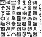 seo   online marketing vector... | Shutterstock .eps vector #709190422