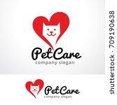 Stock vector pet care logo template design vector emblem design concept creative symbol icon 709190638
