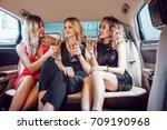 pretty women having party in a... | Shutterstock . vector #709190968