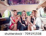 pretty women having party in a... | Shutterstock . vector #709191538