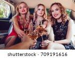 pretty women having party in a...   Shutterstock . vector #709191616