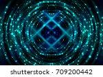 graphic background blue.... | Shutterstock . vector #709200442