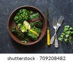 vegetarian swiss chard packets. ... | Shutterstock . vector #709208482