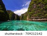 beautiful sea at koh phi phi ... | Shutterstock . vector #709212142