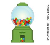 gumball machine toy or... | Shutterstock .eps vector #709218532