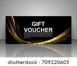 gift voucher template. | Shutterstock .eps vector #709220605