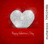 happy valentines day greeting... | Shutterstock . vector #709225486