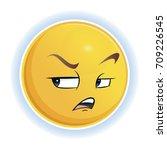 emotion is dissatisfaction.... | Shutterstock .eps vector #709226545