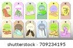 vector illustration of set tags ... | Shutterstock .eps vector #709234195
