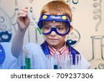 student doing research with... | Shutterstock . vector #709237306