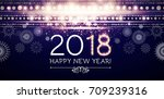 happy new 2018 year. flyer... | Shutterstock .eps vector #709239316