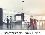 two conference rooms with glass ... | Shutterstock . vector #709241446