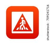 pedestrian road sign icon... | Shutterstock .eps vector #709241716