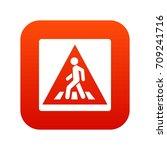 pedestrian road sign icon... | Shutterstock .eps vector #709241716