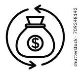 profit vector icon | Shutterstock .eps vector #709248142