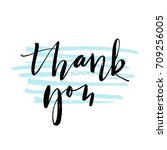 thank you lettering with... | Shutterstock .eps vector #709256005
