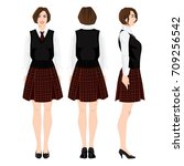 vector illustration of young... | Shutterstock .eps vector #709256542