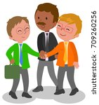 three managers in teamwork ... | Shutterstock .eps vector #709260256