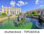 baroque facade of queluz... | Shutterstock . vector #709260316