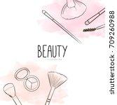 fashion beauty cosmetics... | Shutterstock .eps vector #709260988